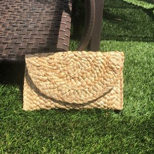 Brand new Natural woven clutch